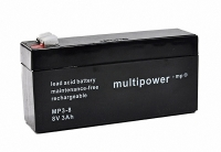 Multipower Bleigel Akku Bleiakku Bleigelakku 8V/3Ah MP3-8 PS 832 (3,2Ah) AGM