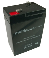 ORIGINAL Multipower BLEI GEL AKKU BATTERIE 6V / 5Ah / MP5-6